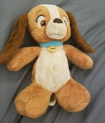 """DISNEY Lady and the Tramp brown BABY LADY PUPPY DOG 10"""" plush stuffed animal"""