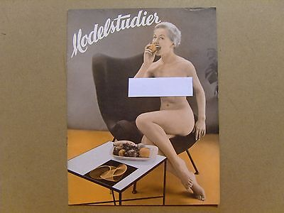 VINTAGE MODELSTUDIER MAGAZINE - No. 61 (1953) - RARE DANISH GLAMOUR ISSUE