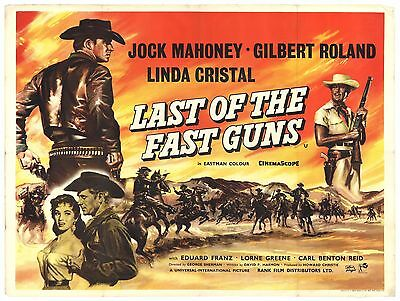 Last of The Fast Guns 1958 British Quad Movie Poster WESTERN