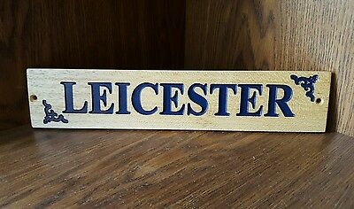 Hardwood wooden Engraved Stable Door Name Plaque Natural or Painted  - Design 1
