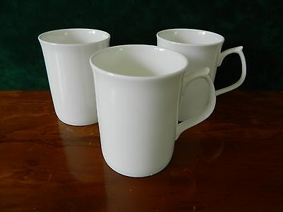 3 White  Mugs Similar To Wedgwood White