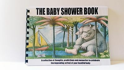 Baby Shower Book Where the Wild Things Are, Guest Predictions, Gifts, Memories