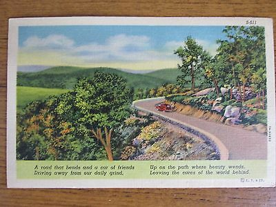 Driving away from our daily grind, (S-511 CT Art) Postcard