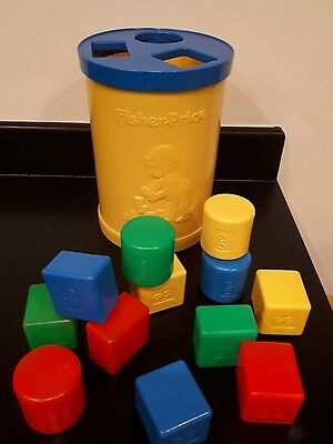 Vintage 1977 Post Box Sape Sorter with 12 colourful shapes