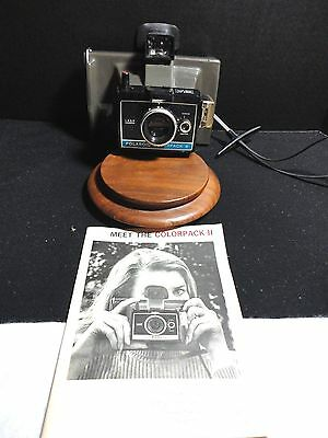 Polaroid Colorpack II  Instant Film Camera  - Owners Manual - USED - NOT TESTED