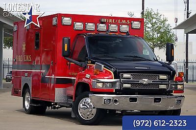 2008 Chevrolet Ambulance Ambulance 2008 Ambulance CC4500 Frazier Body Onan Generator Backup Camera Gest Air Comp