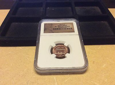 2010 NGC UNION SHIELD BU-First Day of Issue Lincoln Cent!
