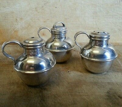 Pre-owned Vintage 1970s Solid Silver Cruet Condiment Set by Kenneth Tyler Key
