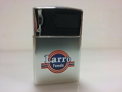 "Brown & Bigelow - Vintage Wind Master ""Larro Feeds"" Promotional Lighter     7296"