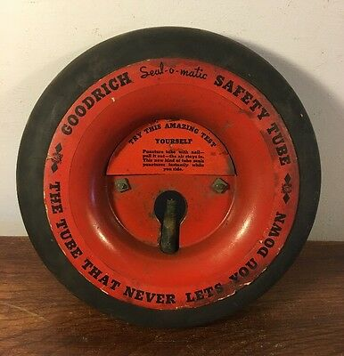 Vintage Goodrich Seal O Matic Safety Tube Sample Advertising Display Rare 1930's