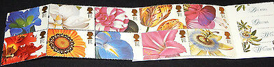 GB 1997 Greetings, 19thC Flower Paintings Booklet of 10 x 1st Class MNH / UNM