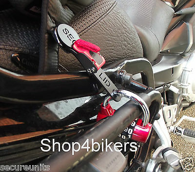 Motorcycle trike custom open face helmet lock for quick release buckle fastener