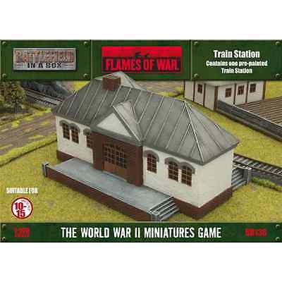 FoW-BB136 - FLAMES of WAR: 15mm; Train Station