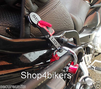 Open face helmet lock quick release buckle fastener motorcycle cruiser custom