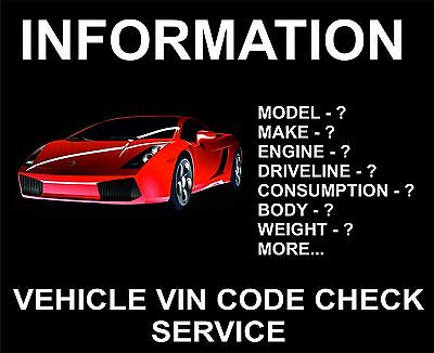 Vehicle, Car, VIN Code Check: Full Info: Any Model, Any Country: BMW, Mercedes