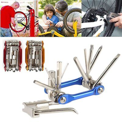 11 In 1 Multi-function Bike Bicycle Wrench Chain Cutter Repair Tools