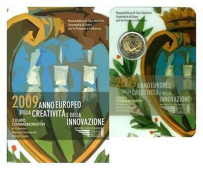 2 euro San Marino 2009 European Year of Creativity Innovation official folder