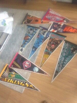 NFL NBL NHL Mixed Lot Of  PENNANT