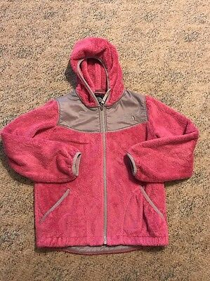 Girls Pink The North Face Oso Soft Jacket Medium 10/12. Hooded. Full Zip
