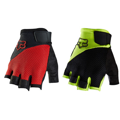 Fox Reflex Gel Short Gloves 2016 MTB Mountain Bike Fingerless Red Yellow