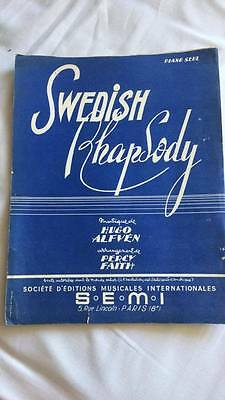 Partition pour piano Swedish Rhapsody 1953