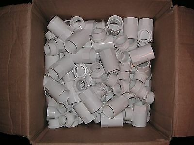 1 Box of 50 x  25mm White Female Conduit Adaptors  Brand New