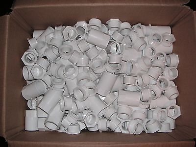 1 Box of 100 x  25mm White Female Conduit Adaptors  Brand New