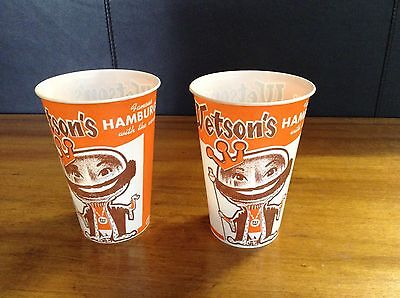 Vintage Wetson's Hamburgers Dixie Cups Lot of 2