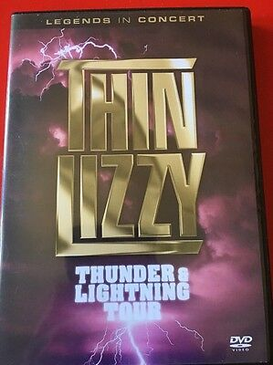 Very RARE OOP Thin Lizzy Thunder And Lightning Tour Live Dvd