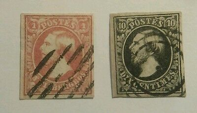 Luxembourg Stamps 1852 #1 & #2 Used