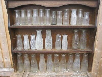 23680 Old Vintage Wide Neck Glass Milk Bottles Shabby Chic Wedding Flower Vase