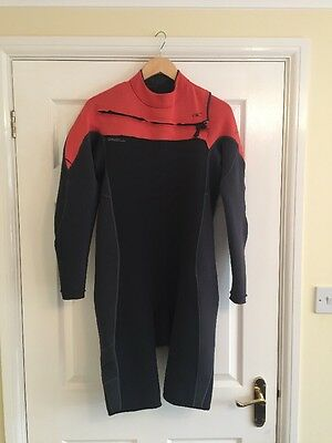 O'Neill Hammer 2mm Chest Zip L/S Shortie Wetsuit 2017 - Black/ Red