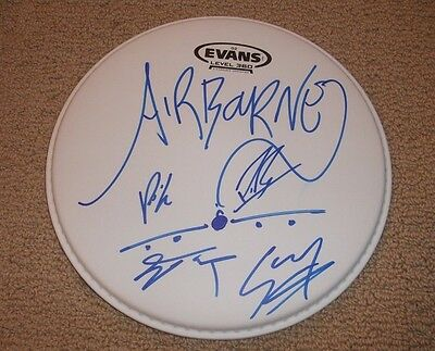 """Airbourne - AUTOGRAPHED 10"""" DRUMHEAD *BAND SIGNED*"""