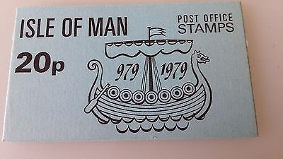 Isle of Man Postage Stamp Booklet 1979  20p SB8