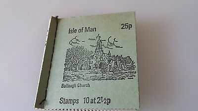 ISLE OF MAN 1973 25p BALLAUGH CHURCH BOOKLET  SB2