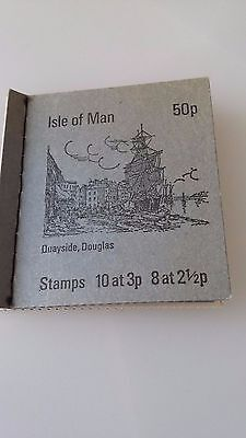 Isle of Man Stamp Booklet 1973  50p SB4 Inverted panes