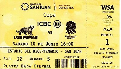 Argentina v England rugby ticket from 1st Test June 2017