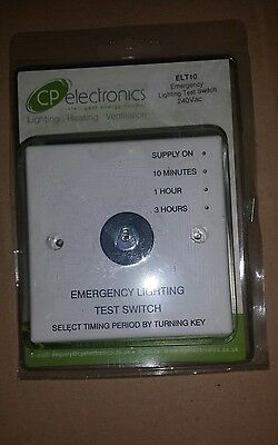 CP Electronics ELT10 Key Operated Timed Emergency Lighting Test Switch