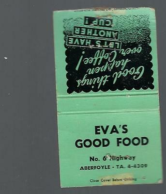 Vintage   Eva`s  Good Food  No 6 Highway  Aberfoyle Ta 4-4309  Have Another Cup