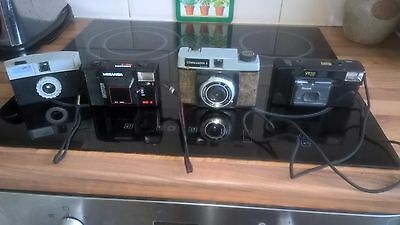 assorted collection of vintage camera's & accessories