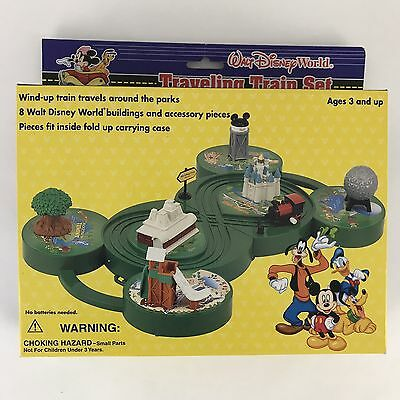 Walt Disney World Traveling Train Set Travel Toys Wind Up MGM Studios
