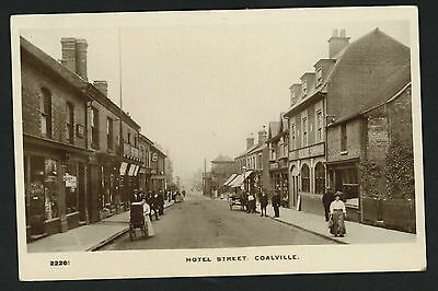 Postcard - Hotel Street,Coalville, Leicestershire - Real Photo 1917