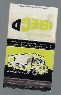 Vintage Safety  Shoe Specialists Mobile Service Rexdale  Ontario  Matchbook