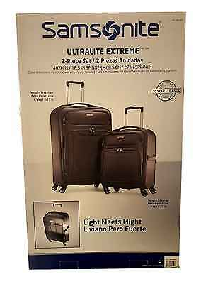 Samsonite Ultralite Extreme 2-Piece Spinner Suitcase Set - Grey - New,boxed