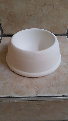 "Paint Your Own Ceramic Bisque / Pottery DOG BOWL Large 8"" New"