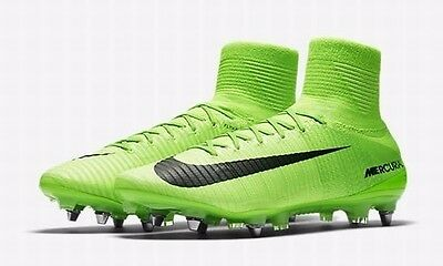 Brand New Mens Nike Mercurial Superfly V SG-Pro 831956-305 Green Size 10.5