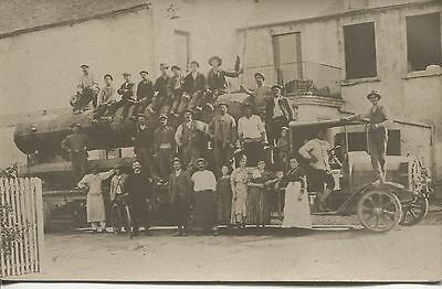 Carte Photo - Camion Avec Grumes - Belle Animation