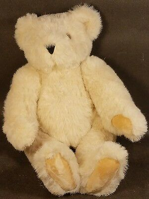 Nice Vintage Authentic Vermont Teddy Bear Jointed Cream Colored Bear