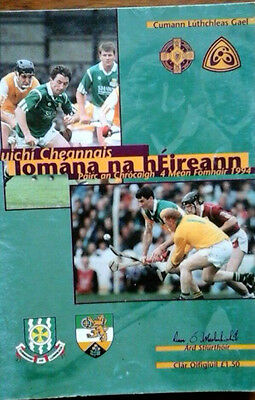 Limerick V Offaly 4/9/1994 Gaa All Ireland Hurling Final