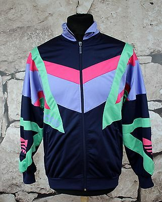 _ ADIDAS VINTAGE SWEATSHIRT _ 1980's  D3 (S)  1980' s ULTRA RARE _ TRACKSUIT TOP